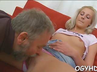brave young gal fucked by old rod