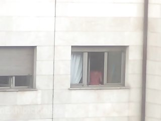 my student neighbor window voyeur 003. she seems horny today