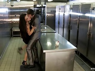 hot kitchen sex with a kinky brunette
