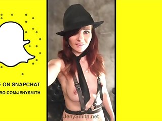 jeny smith snapchat compilation - public flashing and nude