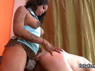 sweeties penetrate lovers anal hole with huge strapons and blast jizm